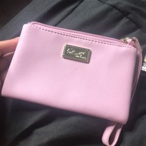 New never used Betsey Johnson Pink wristlet